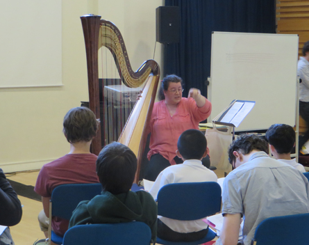 Harpist Rohan Platts advises young composers about writing for the harp